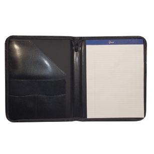 Royce Leather Elegant Leather Zippered Portfolio Padfolio