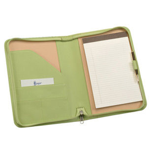 Royce Leather Leather Compact Zippered Padfolio
