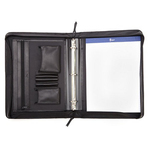 Royce Leather Leather Convertible Zip Around With Writing Pad Binder