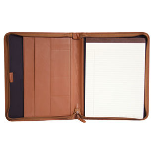 Royce Leather 748-5 Convertible Zip Around Padholder in Top Grain Nappa Leather
