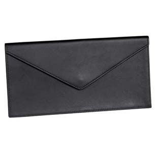 Royce Leather Leather Slim Profile Document Envelope Binder