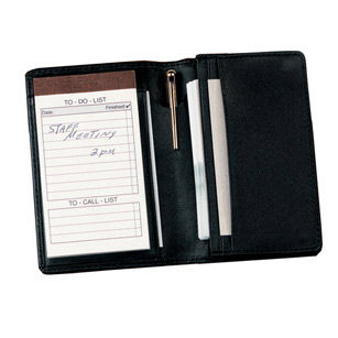 Royce Leather Leather Note Jotter And Business Card Holder Desk Set