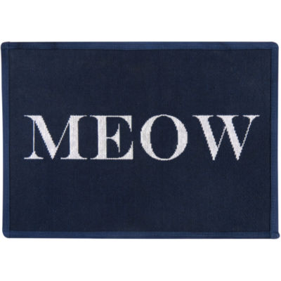 "P. B. Paws by Park B. Smith® 13"" x 19"" Cat Meow Tapestry Pet Mat"