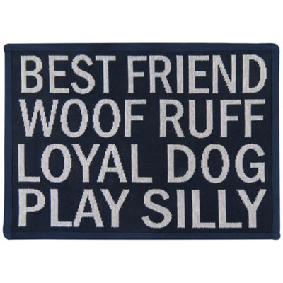 "P. B. Paws by Park B. Smith® 13"" x 19"" Loyal Dog Tapestry Pet Mat"