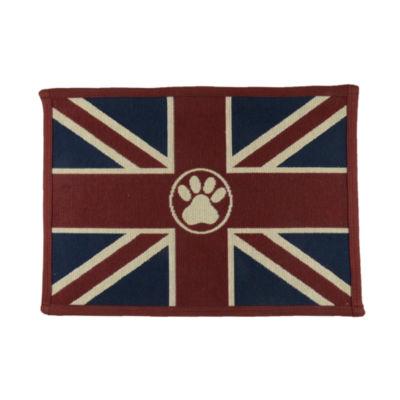 "P. B. Paws by Park B. Smith® 13"" x 19"" Union Jack Paw Pet Mat"