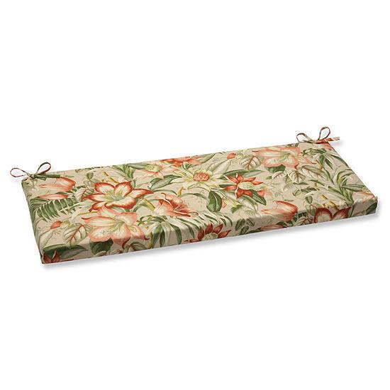 "Pillow Perfect 40"" Outdoor Botanical Glow Bench Cushion"