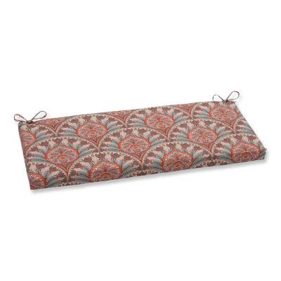 "Pillow Perfect 40"" Outdoor Crescent Beach Bench Cushion"