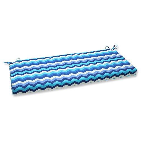 "Pillow Perfect 40"" Outdoor Panama Wave Bench Cushion"
