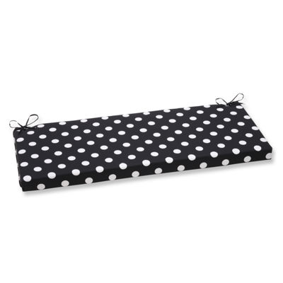 "Pillow Perfect 40"" Outdoor Polka Bench Cushion"