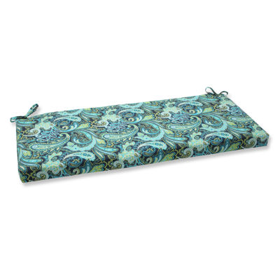 "Pillow Perfect 40"" Outdoor Pretty Paisley Bench Cushion"