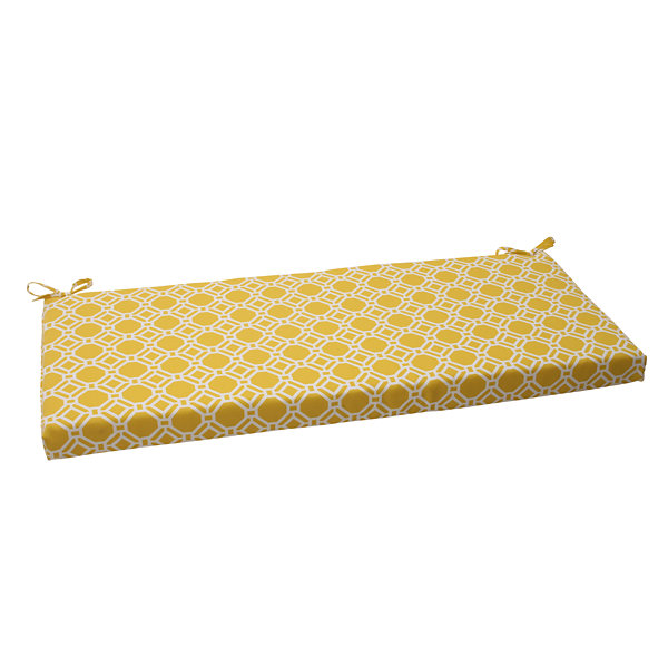 "Pillow Perfect 40"" Outdoor Rossmere Bench Cushion"