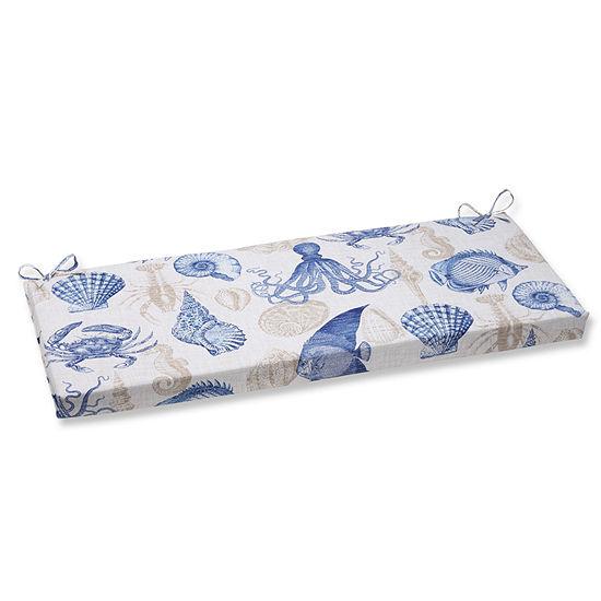 "Pillow Perfect 45"" Outdoor Sealife Bench Cushion"""
