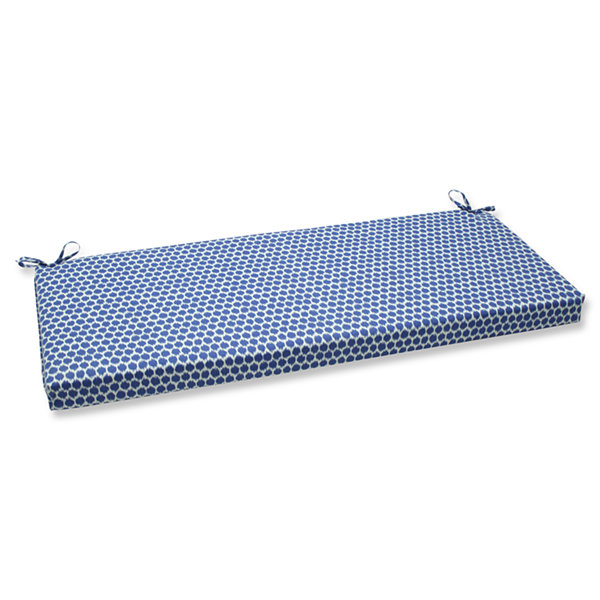 "Pillow Perfect 40"" Outdoor Seeing Spots Bench Cushion"