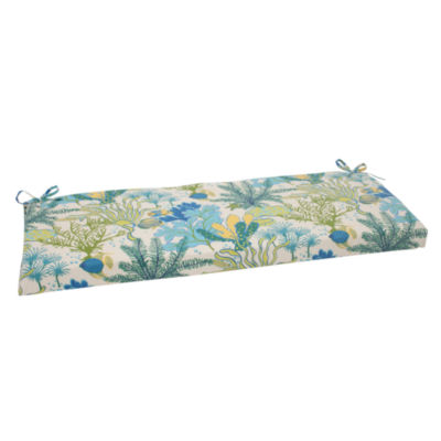 "Pillow Perfect 40"" Outdoor Splish Splash Bench Cushion"