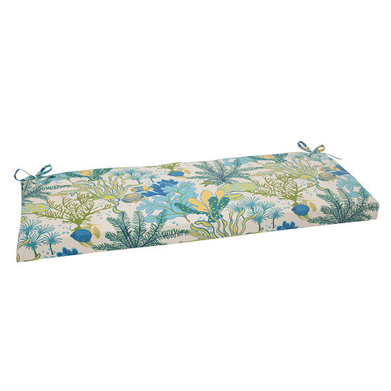 "Pillow Perfect 45"" Outdoor Splish Splash Bench Cushion"""