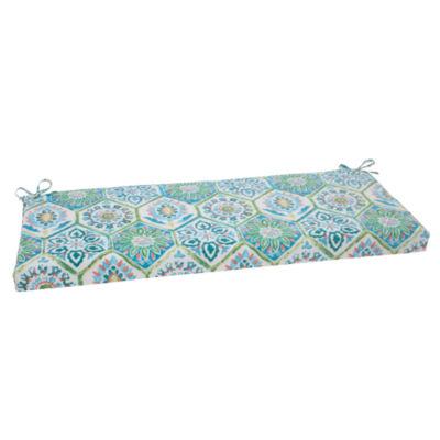 """Pillow Perfect 40"""" Outdoor Summer Breeze Bench Cushion"""