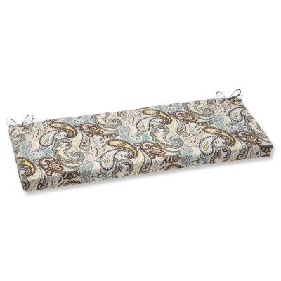 "Pillow Perfect 40"" Outdoor Tamara Paisley Bench Cushion"