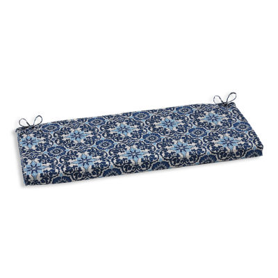 """Pillow Perfect 40"""" Outdoor Woodblock Bench Cushion"""