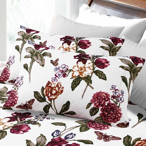 Tribeca Living Flannel Blossoms Flannel Sheet Set