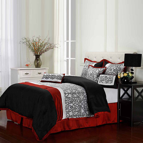 Aubrey 7-pc. Reversible Comforter Set
