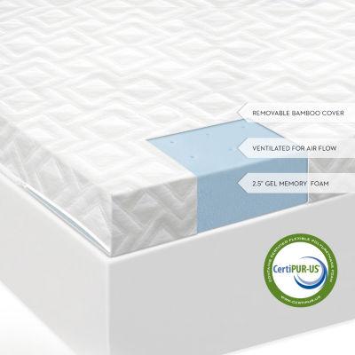 Malouf Isolus 2.5 Inch Ventilated Gel Memory FoamMattress Topper