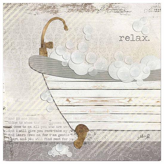 Relax Bath Canvas Art