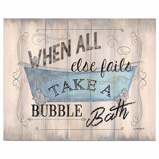Take A Bath Canvas Art