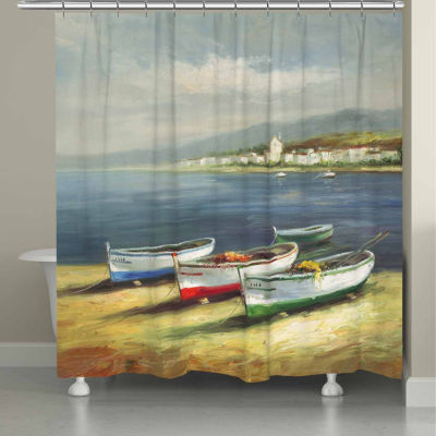 Laural Home Boats On  The Beach Shower Curtain