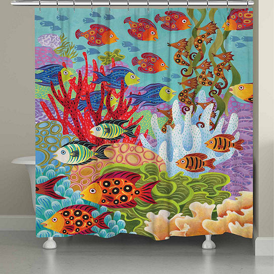 Laural Home Fish In The Hood Shower Curtain