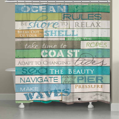 Laural Home Ocean Rules Shower Curtain