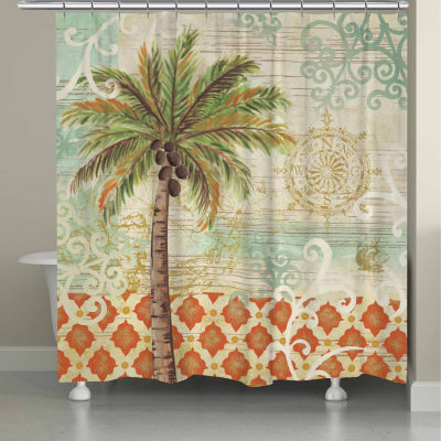 Laural Home Spice Palm Shower Curtain