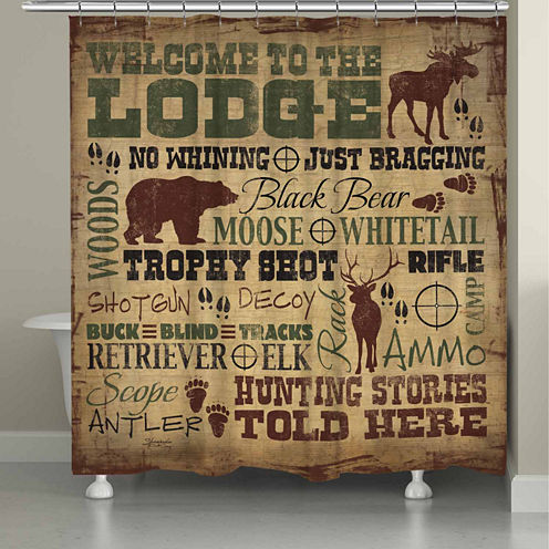 Laural Home Welcome To The Lodge Shower Curtain