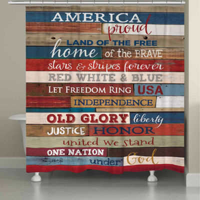 Laural Home America Proud Shower Curtain