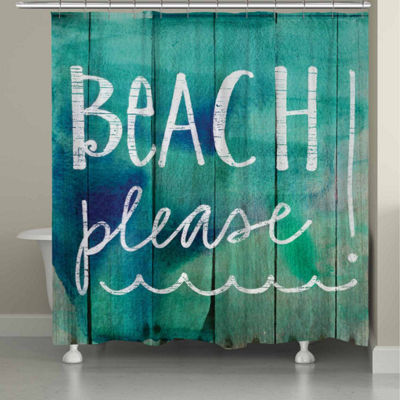Laural Home Beach Please Shower Curtain