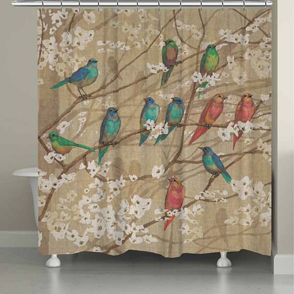 Laural Home Birds And Blossoms Shower Curtain