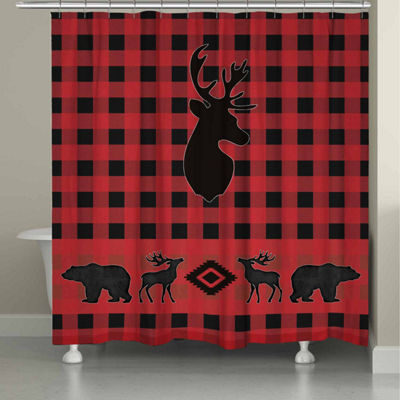 Laural Home Buffalo Check Shower Curtain