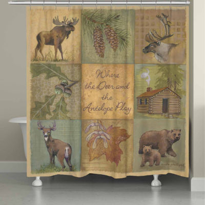 Laural Home Deer And Antelope Shower Curtain