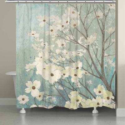 Laural Home Dogwood Blossoms Shower Curtain