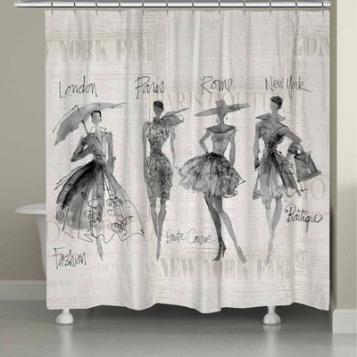 Laural Home Fashion Sketchbook Shower Curtain