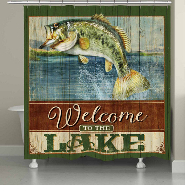 Laural Home Flying Fish Shower Curtain