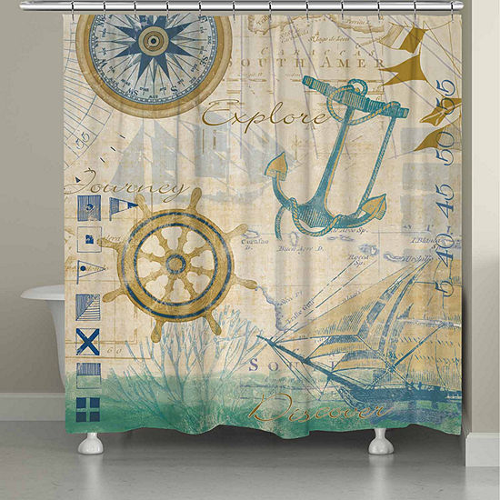 Laural Home Mariner Sentiment Shower Curtain