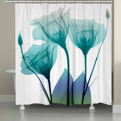 Laural Home Ombre Bloom Shower Curtain