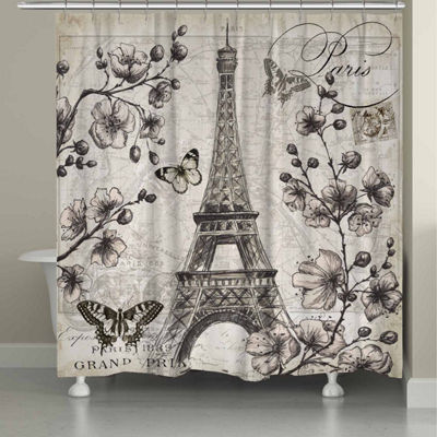 Laural Home Paris In Bloom Shower Curtain