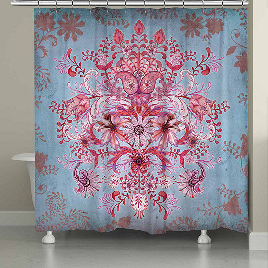 Laural Home Pink Kaleidoscope Shower Curtain