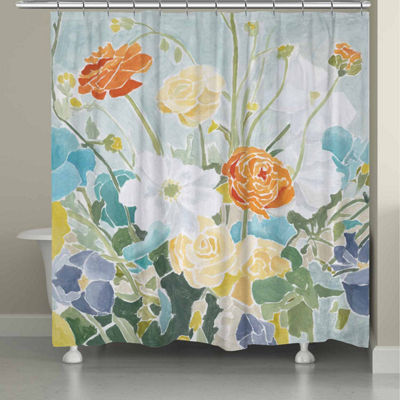 Laural Home Spring Floral Shower Curtain