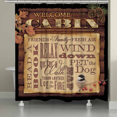 Laural Home Welcome To The Cabin Shower Curtain