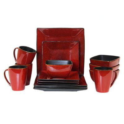 Elama Harland Loft 16-pc. Modern Premium StonewareDinnerware Set - Service for 4