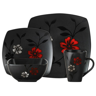 Gibson 16-pc. Evening Blossom Dinnerware Set