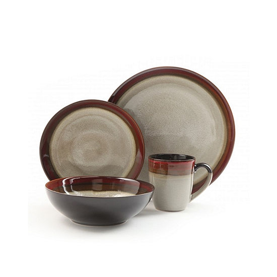 Gibson Couture Bands 16-pc. Dinnerware Set