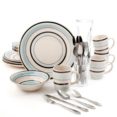 Gibson Deluxe Essentials 32-pc. Dinnerware Combo Set